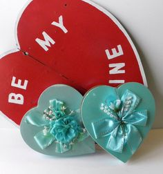 Vintage Heart Boxes Chocolate Box Fannie May by Sugarcookielady, $40.00