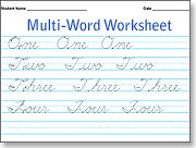 Make your own cursive writing sheets.  Great to make for the week's spelling words!