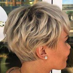 60 Short Shag Hairstyles That You Simply Can't Miss Layered Ash Blonde Pixie Edgy Pixie Cuts, Short Hair Cuts, Pixie Bob, Asymmetrical Pixie, Shaggy Pixie Cuts, Best Pixie Cuts, Short Hair With Layers, Edgy Pixie Hair, Blonde Short Hair Pixie