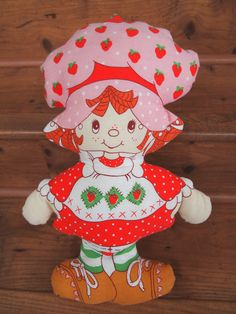 1980's Strawberry Shortcake Pillow Doll