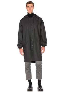 Rains Loose Fit Jacket in Black