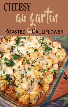 Here's a new way to enjoy that oh-so-healthy cruciferous vegetable! My Cheesy Oven-Roasted Cauliflower Au Gratin is a healthy spin on the traditional potato au gratin, and we all know potatoes can be a big no-no for carb counters.