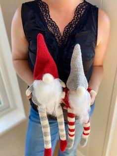 Christmas Crochet Gnome Scandi Christmas, Cute Christmas Tree, Etsy Christmas, Christmas Gnome, Christmas Ideas, Christmas Crafts, Christmas Ornaments, Crochet Santa, Christmas Crochet Patterns