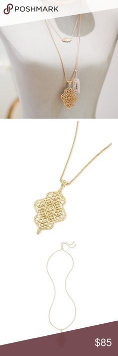 Kendra Scott Gold Kathy Long Necklace Brand new with tags!!! Love this gorgeous necklace from the new spring collection! Comes with tags, box & dust bag :) Kendra Scott Jewelry Necklaces
