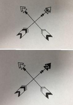 Best friend matching tattoos!!!! @Courtney Baker Baker Baker Baker Cross  different version of arrows