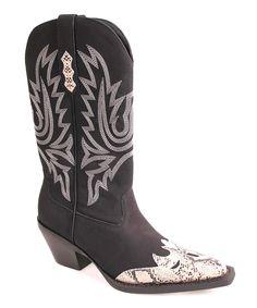 Look at this #zulilyfind! Nomad Footwear Black & Beige Matador Cowboy Boot by Nomad Footwear #zulilyfinds