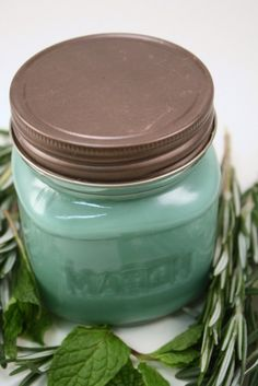 Rosemary Mint Soy Candle by Blackberrythyme on Etsy, $8.00