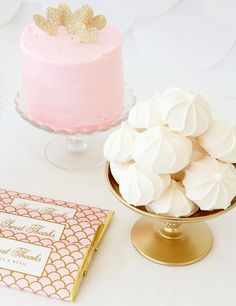 Personalized Elegant Scallop Candy Bar Wrappers from Sweet Paper Shop | Blush Pink & Gold Sweets Table | Shop more customizable candy wrappers & visit our blog to learn more!