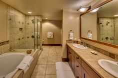 Master bathroom, The Village at Northstar