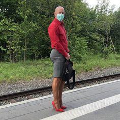 Men In Heels, High Heels, Girly Man, Men Wearing Skirts, Real Men, Crossdressers, Business Casual, Going Out, Guys