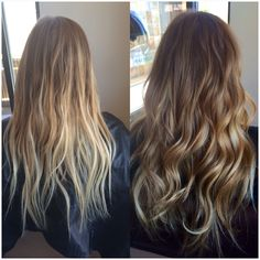 Love her hair color on the right