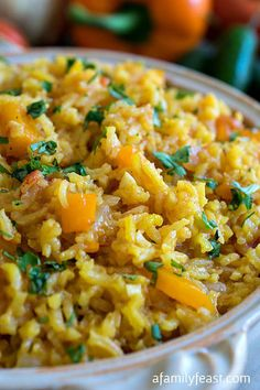 Spanish Rice - A Family Feast~ Spanish Rice – not to be confused with Mexican rice