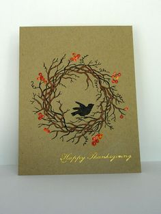 Amazon blank greeting card handmade cards with real amazon blank greeting card handmade cards with real handmade pinterest thanksgiving flower cards and leaves m4hsunfo