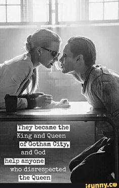 Imagen de suicide squad, joker, and harley quinn Harley And Joker Love, Joker Und Harley Quinn, Harely Quinn And Joker, Jared Leto Joker, Joker Quotes, Movie Quotes, Suicide Squad, Harley Quinn Tattoo, Der Joker