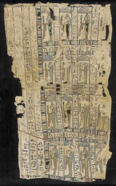 Funerary Fragment of Cloth Inscribed with a Passage from The Book of the Dead. Ptolemaic Period, 305-31 B.C.