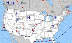 Think a scientific illiterate can explain weather maps? Think again... #weather #map #climate #meteorology #WeatherMap