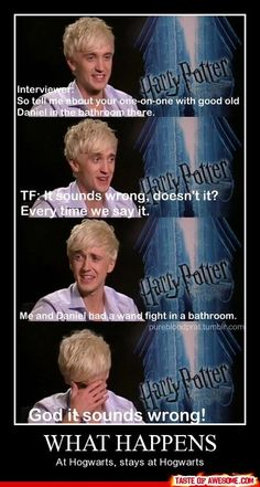 Draco and Harry's wand fight