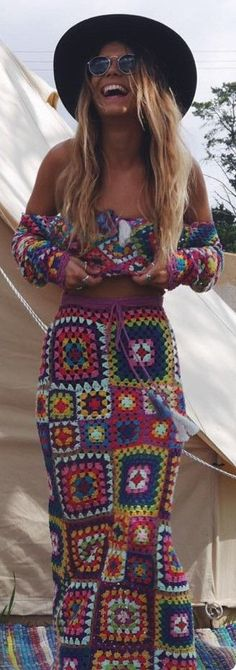 Desert Rose Double Slit Skirt Festival Fashion Organic Clothing Goa Clothing * Hippie Tie Dye Clothing