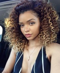 blonde highlights curly hair - Căutare Google