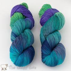 Oceana in Socks that Rock Mediumweight from Blue Moon Fiber Arts at The Loopy Ewe ($26.00)
