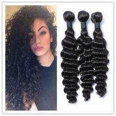 100% Human Hair Bundles Wet And Wavy Virgin Brazilian Hair Deep Wave Curly Hair Extensions Hair Weaving 300g/Bundle Curly Remy Hair Weave Malaysian Remy Hair Weave From Africagirl, $0.62| Dhgate.Com