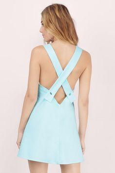 Miss Popular Pinafore Dress at Tobi.com #shoptobi