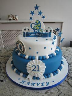 Golf Nerves Tips Chelsea Football Cake, Football Cakes, Wilton Cakes, Cupcake Cakes, Cupcakes, Poke Cake Banana, 80 Birthday Cake, Sport Cakes, Football Birthday