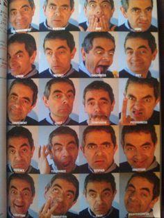 Rowan Atkinson 's amazing facial expressions
