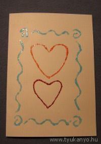 Valentin kártya - Bálint nap - Valentin nap - Valentin day - papír - saját készítésű - DIY