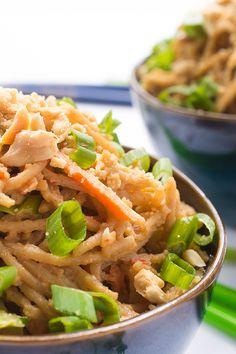 Peanut Sauce Noodles - a fresh and easy Thai recipe