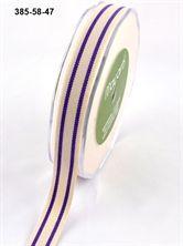Show details for 16mm Organic Cotton Stripe PURPLE