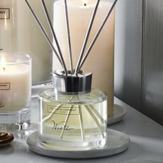 Accessorise your home with subtly scented reed room diffusers from The White Company. Shop this season's fragrance diffusers and diffuser refills online today Room Diffuser, Candle Diffuser, Home Scents, Home Fragrances, The White Company, Scented Candles, Sweet Home, Winter