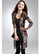 Mujeres Leopard Coatigan – USD $ 13.29