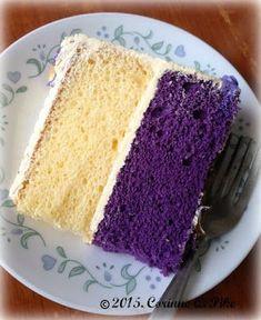 Heart of Mary: Quezo Ube cake Ube Recipes, Cupcake Recipes, Baking Recipes, Cupcake Cakes, Dessert Recipes, Cupcakes, Ube Roll Cake Recipe, Ube Chiffon Cake Recipe, Sweets