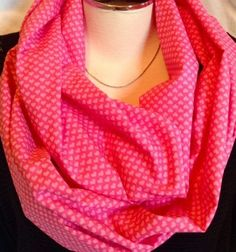 A personal favorite from my Etsy shop https://www.etsy.com/listing/216981440/pink-infinity-scarf-infinity-scarf-pink
