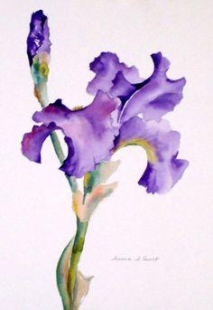 Purple Iris by Susan Ewart