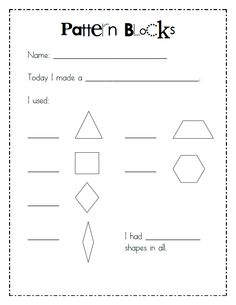 Composing Shapes in 1st Grade | Pattern blocks, Shapes and Math