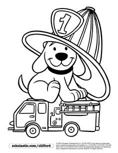 busy firefighter coloring pages | Firedog Clifford Coloring Page | children's stuff ...
