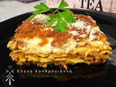 Greek Recipes, Lasagna, Pizza, Ethnic Recipes, Food, Meal, Essen, Hoods, Greek Food Recipes