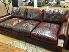 The Fat Hydrangea: Restoration Hardware *Knock Off* Couch. Leather ...