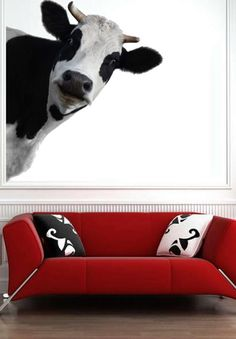 3D Cow Render Animals Kids Children Nursery  Full by uBerDecals