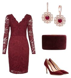 """Beautiful Dress"" by weavingmaidenbdayseptember21st ❤ liked on Polyvore featuring Gianvito Rossi, Kayu and Effy Jewelry"