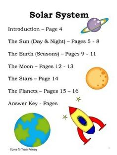Solar System Unit 2nd Grade (page 4) - Pics about space
