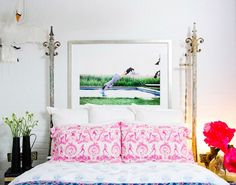 The Best It-Girl Bedrooms//mixed prints, Arthur Elgort, painted brick