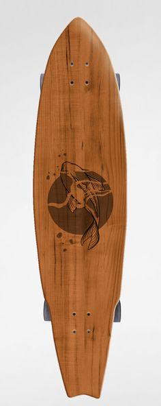 Custom longboard by luiza kwiatkowska...I think I'm in love