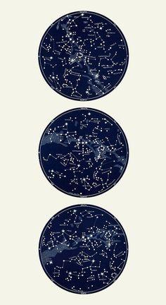 Star Chart Print Constellation Print Celestial by CapricornPress