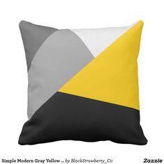Simple Modern Gray Yellow and Black Geo