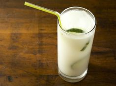 """The Sunny Getaway"" - coconut milk, lemon, lime and ginger beer with vodka. YUM."