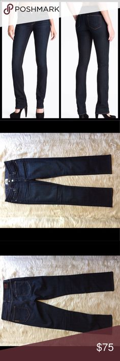 "Paige ""Skyline"" Straight Leg Stretch Denim Jeans LIKE NEW! Only worn twice. Dark Mid-Rise Jean, straight-leg with a touch of stretch for a VERY FLATTERING FIT;). These jeans are soft, sexy, and can be dressed up with heels, dressed down, or both (which is what I did and it was so hot!;). Paige Jeans Jeans Straight Leg"
