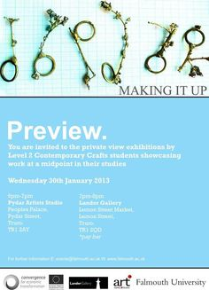 Making it up- exhibition preview